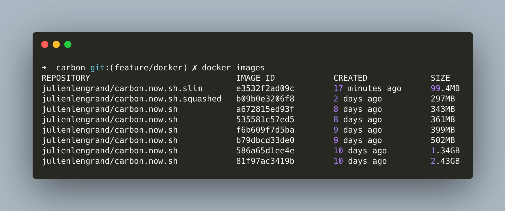 Reducing Docker's image size while creating an offline version of ...